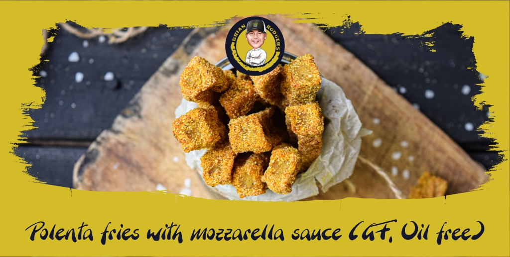 Polenta Fries with Mozzarella Sauce